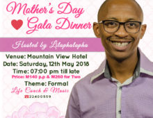 Mother's Day Gala Dinner – Mountain View Hotel, Lesotho